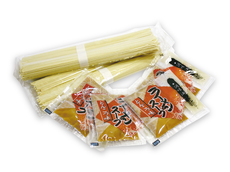 パッケージ内容: 乾麺+とんこつ味ラーメンスープ+調味油